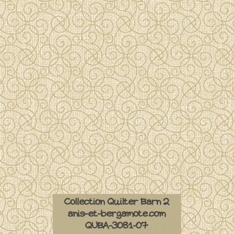 tissu patchwork-collection quilter barn 3081-07 faux uni beige