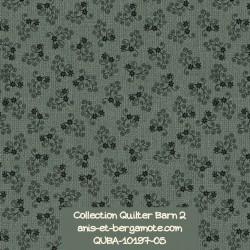 tissu patchwork-collection quilter barn 10197-05 fleuri vert