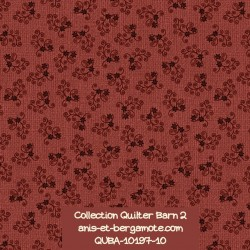 tissu patchwork-collection quilter barn 10197-10 fleuri rouge