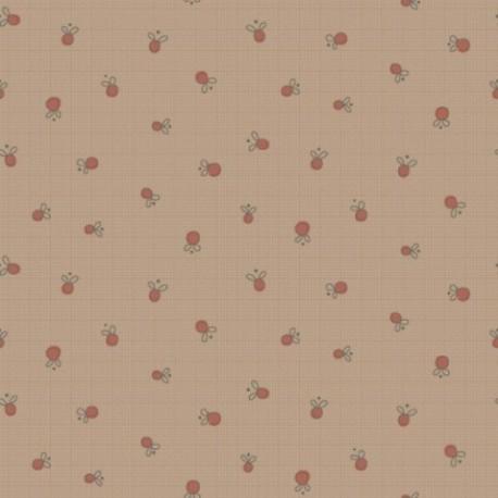 tissu patchwork anni downs fond marron glacé clair