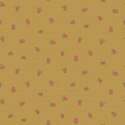 tissu patchwork anni downs fond moutarde