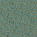 tissu patchwork anni downs fond bleu glacier avec des fleurs
