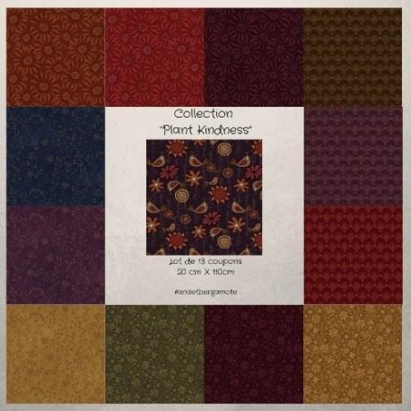 Tissus patchwork de la Collection Plant kindness
