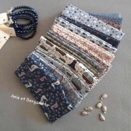 lot de 14 coupons de la collection ship to shore de Lynette Anderson