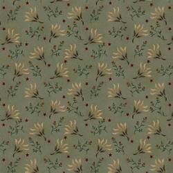 tissu patchwork fleuri vert collection Liberty star par Kim Diehl