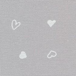 Murano Zweigart réf. 7409 petits coeurs sur fond gris