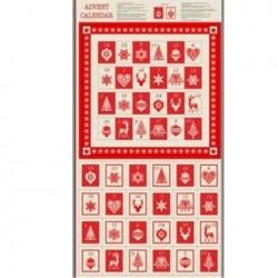 tissu patchwork de noël en panneau calendrier de l avent