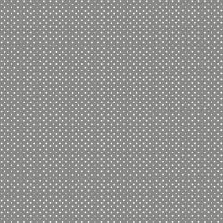 tissu gris foncé à pois