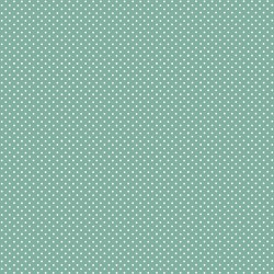 tissu patchwork bleu gris à pois