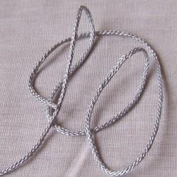 cordon synthétique gris perle
