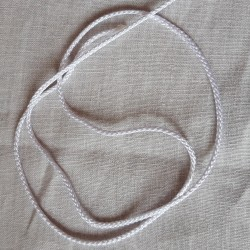cordon polyester blanc