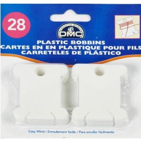 cartonnettes plastique pour fils DMC