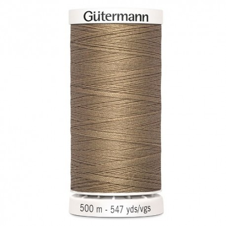fil couture gutermann 500 m 139 marron glace polyester