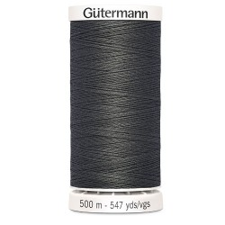 fil couture gutermann 500 m 702 gris anthracite  polyester