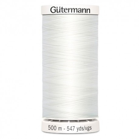 fil couture gutermann 500 m 800 blanc polyester