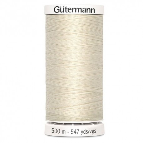 fil couture gutermann 500 m 802 beige clair polyester
