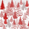 tissu patchwork d hiver avec des sapins