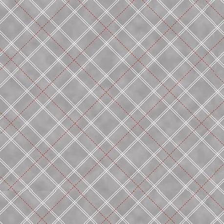 tissu patchwork gris a carreaux