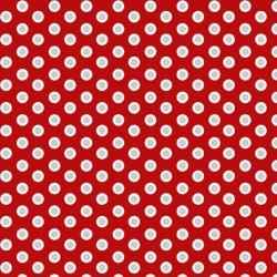 tissu patchwork rouge à pois