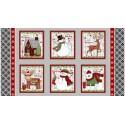 tissu patchwork de Noël, en  panneau, studio E