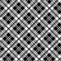 tissu patchwork écossais noir