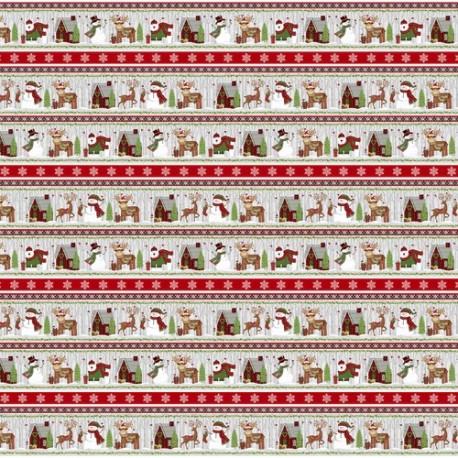 tissu patchwork avec des motifs de Noël