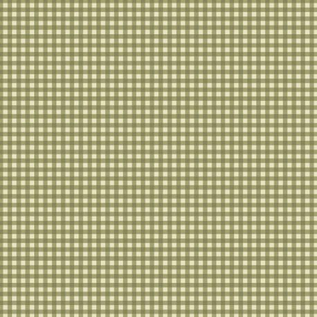tissu patchwork de noel de Benartex petits carreaux verts