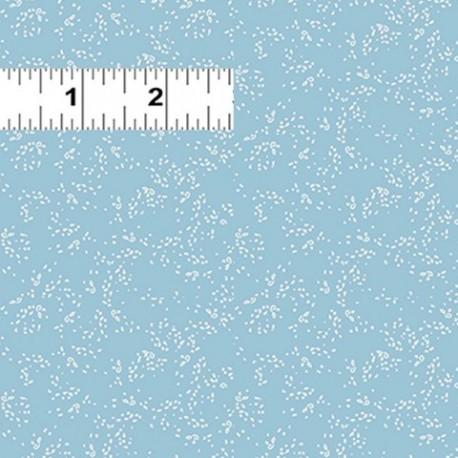 tissu patchwork bleu ciel avec petits pois