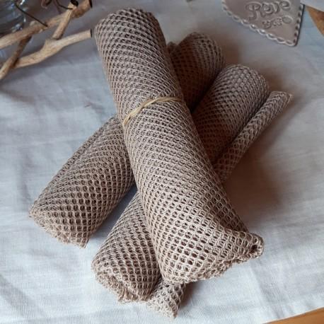 tissu filet mesh beige