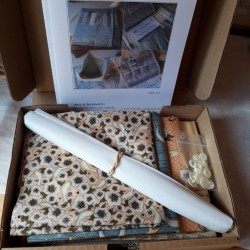 organiseur version tissus patchwork santoro