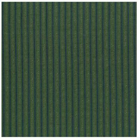 tissu patchwork Lynette Anderson rayé vert et marine High Meadow Farm
