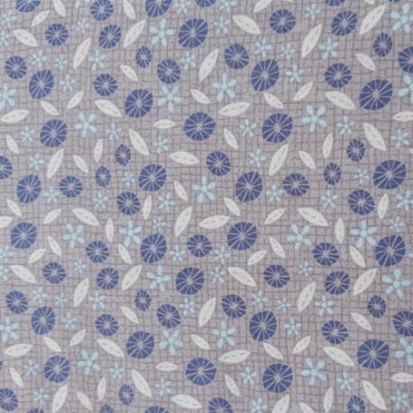 tissu patchwork fleurs et feuilles lynette anderson