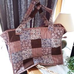 sac à ouvrage en patchwork
