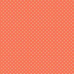 tissu patchwork orange à pois, makover