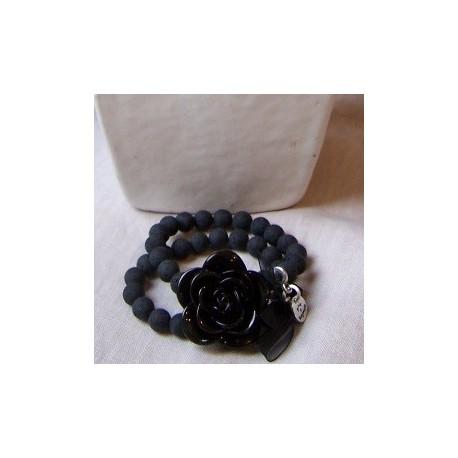 Bracelet à la rose Gris