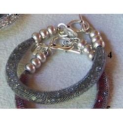 "Bracelet ""Strass"" anthracite"