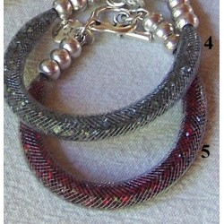"Bracelet ""Strass"" rouge"