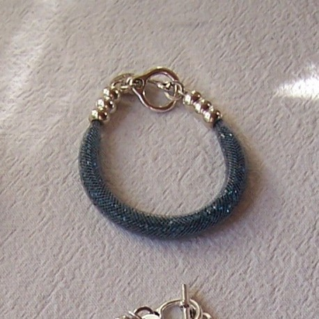 "Bracelet ""Strass"" turquoise foncé"