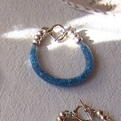 "Bracelet ""Strass"" turquoise clair"