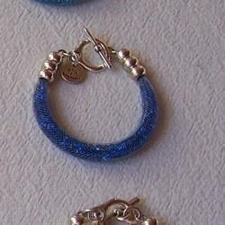 """Bracelet """"Strass"""" bleu"""