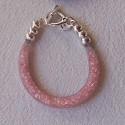 """Bracelet """"Strass"""" saumon"""
