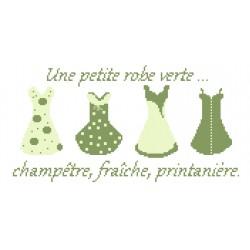 Une petite robe verte