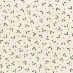 "tissu patchwork de noel, branches de houx Lynette anderson""Festive Fun"""