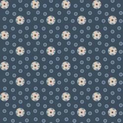 tissu patchwork bleu marine fleuri collection Feathers and Flourishes
