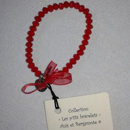 Les P'tits Bracelets coloris rouge opaque siam