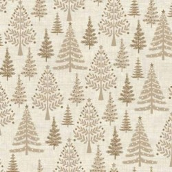 tissu patchwork imprimé sapins de Noël,