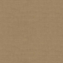tissu patchwork marron havane, collection Linen texture de Makower