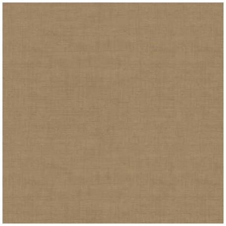 tissu patchwork marron havane, collection Linen texture de Makower