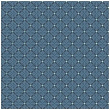 tissu patchwork coloris bleu coloris Feathers and Flourishes