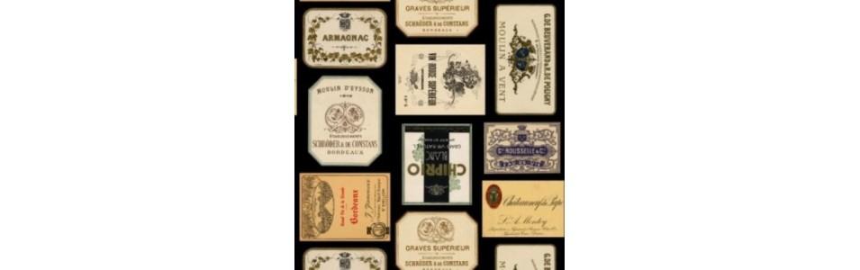 tissu patchwork sur le thème du vin